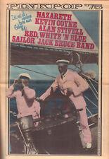 MUZIEKKRANT OOR 1975  PINKPOP KRANT -  NAZARETH/JACK BRUCE/KEVIN COYNE/SAILOR