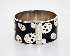 Cranio di Alexander McQueen Classic Bianco e Nero, bracciale Bangle bracciale regalo perfetto