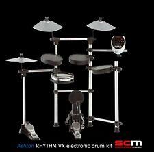 Bonus Drum Throne! Ashton Rhythm VX Electronic Drum Kit Dual Zone Snare