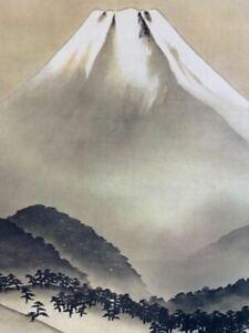 JAPANESE PAINTING HANGING SCROLL JAPAN LANDSCAPE Fuji MOUNTAIN Print e208