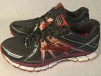 Brooks Womens Adrenaline GTS 17 Running Shoes Size 9.5 Medium Gray Peach Pink