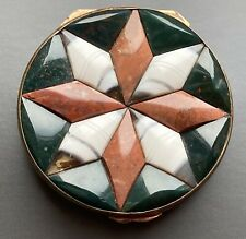 Superb Antique Victorian Star Shaped 3D Specimen Agate Box * Snuff Gold Gilt Set