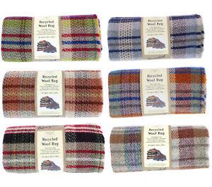 Tweed Mill Recycled Wool Rug/Blanket/Throw Multi-Coloured 120cm x 150cm