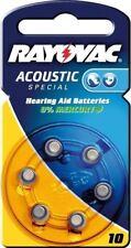 Rayovac 6x Rayovac Acoustic Special PR70/10A zinc-air hearing aid cell 1.4 V