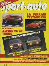 SPORT AUTO n°274 NOVEMBRE 1984 avec encart & poster ALPINA B7 TURBO PORSCHE 928S