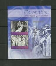 BIOT SGMS284 50TH ANNIV OF CORONATION MINISHEET MNH