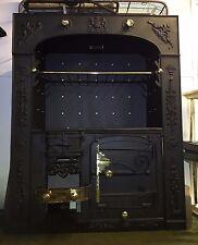 Restored Antique Cornish Cast Iron Kitchen Cooking Range Fireplace Hob (TA269)