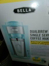 Bella Dual Brew Single-Serve Coffee Maker - Aqua color k-cup compatible