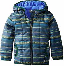 White Sierra Puffer Jacket, Asphalt Combo, 3T