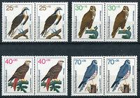 Bund 754 - 757 sauber postfrisch waagerechte Paare BRD Greifvögel Motiv Vögel