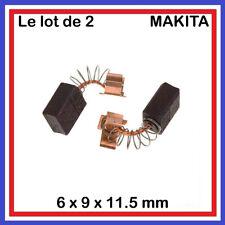 Lot de 2 Charbons 6 x 9 x 11.5 mm MAKITA  CB 406 407 418 419