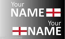 Handed Rally Name Decals England St. George Flag