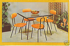 Advertising Postcard - Retro Dinette Table Chairs