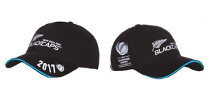 New Zealand Cricket Cap Men's Black Caps ICC Champions Trophy 2017 Cap Hat - New