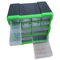 12 Drawer Double Storage Workshop Cabinet Multi Unit Box Handy Crafts Organizer