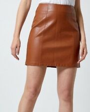 Dorothy Perkins - Tan Faux Leather Mini Skirt - Size 18 - New