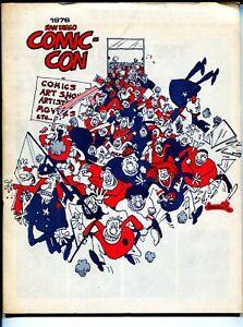 San Diego Comic-Con Program Book 1976-Aragones-Ditko-Schulz-historic-VG/FN