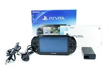 Sony PS Vita Khaki Black Slim PCH-2000 w/ Charger + Box From Japan [Excellent+]