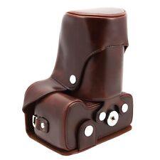 Leather DSLR Digital Camera & Lens Case Bag Cover for Nikon D3100 D3200 Brown