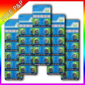 50 X AG13 LR44 SR44 L1154 357 A76 QUALITY ALKALINE BUTTON /COIN CELLS BATTERIES