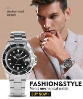 Men's Watch Automatic Mechanical Watch Calendar Function Arabic Digital Dial