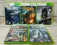 Lot of 5 Xbox 360 Games Tested Call of Duty Dishonored Grand Theft Auto 4