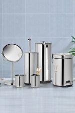 Stainless Steel 6-Piece Bathroom Set Accessories Set Chrome