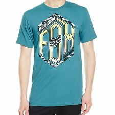 FOX 'THE SCOOP' T-SHIRT MAUI BLUE  SIZE LARGE **BRAND NEW**FREE POSTAGE**
