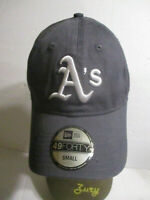 New Era Hat 59fifty Oakland Athletics Men Gray White Custom Fitted Cap A's Small