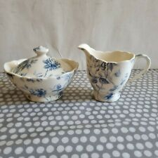 Pepper Tree Fine Porcelain Tea Wares. Lidded Sugar Bowl And Creamer