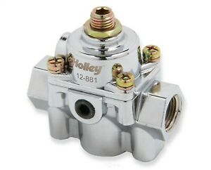 Holley 12-881 Die Cast By Pass Style Carbureted Fuel Pressure Regulators