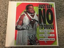 "Vtg 1991 WWF BRUTUS THE BARBER BEEFCAKE ""SAY NO TO DRUGS"" Photo Print Ad RARE"