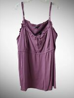 NWT Torrid Women's 6 Purple Spaghetti Strap Camisole Blouse Tank Top