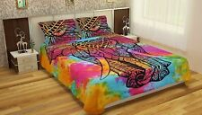 Bedding Set Queen Quilt Duvet Cover Front Elephant Hippie Gypsy Indian
