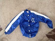 Vtg Dallas Cowboys Cheerleader Girl's Jacket S6-6X Blue White Nylon from 80,s