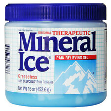 Mineral Ice Therapeutic Pain Relieving Gel Best DeepCold Reliever 16 oz NEW