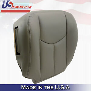 2003 2004 2005 2006 2007 GMC Sierra Driver Bottom Leather Seat Cover pewter-gray