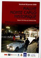 Carte postale Rallye Monté Carlo Historique 2009 départ de Reims Austin Healey