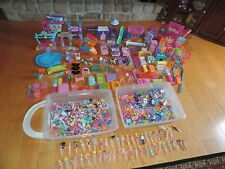 Polly Pocket & Magic Clip Princess Doll Dolls Huge Lot Clothing Accessories +