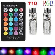 2x LED RGB T10 5050-6SMD Remote Control Color LED bulb Parking light Car lamp