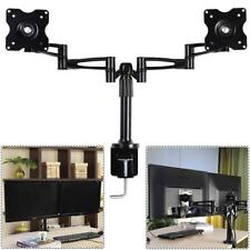 """COSTWAY 10"""" to 25"""" TV Wall Mount Bracket, Swivel and Tilt Double Arm, Fixed Flat"""