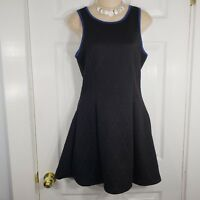 FINN & CLOVER Size Medium Black & Blue Skater Swing Flare Sleeveless Dress