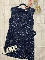 Oliver Bonas 14 Poem navy star print floaty dress occasion belted party occasion