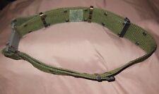US Military 1985 Individual Equipment Belt LC-2 Nylon Olive Green Large