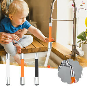 Steel Swivel Hose Water Tap Sink Faucet Filter Extension Nozzle Sprayer Kitchen