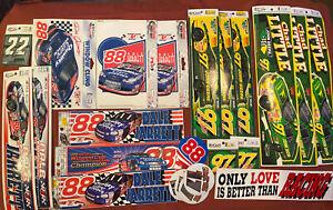 "Vintage NASCAR Bumper Stickers (#'17,22,88,97) Jarrett,Little  & ""Love"" sticker."