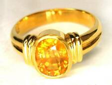 5cts YELLOW SAPPHIRE 22K YELLOW SOLID GOLD RING