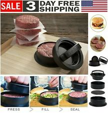 Non Stick Stuffed Burger Press Hamburger Patty Molds Maker Tool Beef Sliders Bbq