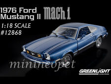 GREENLIGHT 12868 1976 76 FORD MUSTANG II MACH 1 1/18 DIECAST MODEL CAR BLUE