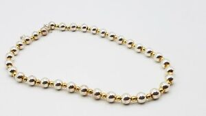 Milor 925 Silver Gold Plate Necklace Beaded DY959